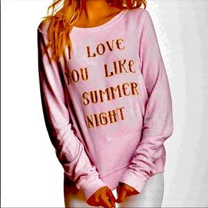 "Wildfox ""love you like summer.. pink&gold BBJ Top"